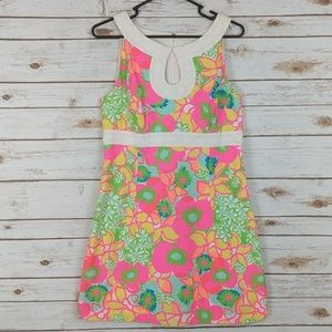 Lilly Pulitzer Bright Floral Shift Dress White 8
